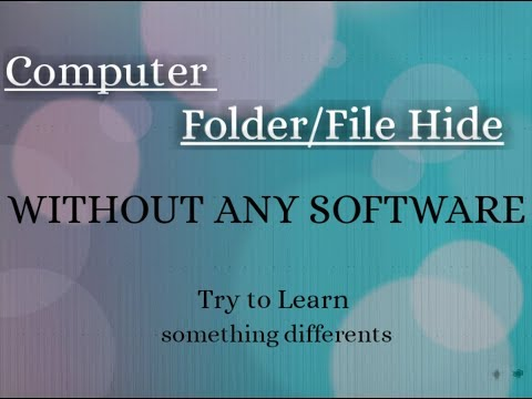 Hide Personal Folder Bangla tutorial   |  Lock Computer Folder Without any Software | Try to Learn thumbnail