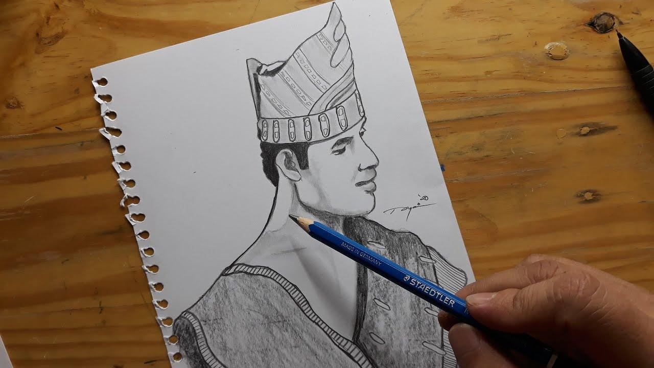 Cara Menggambar Foto Orang Medan - Menggambar Menggunakan ...