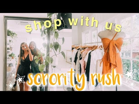 Shop with me for SORORITY RECRUITMENT