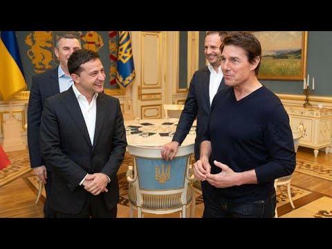"""""""Вы отлично выглядите!"""": Зеленский встретился с Томом Крузом…"""