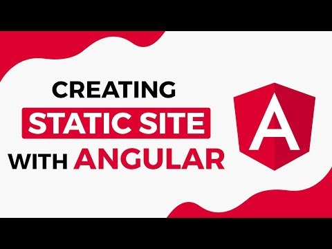 Creating Static Site With Angular