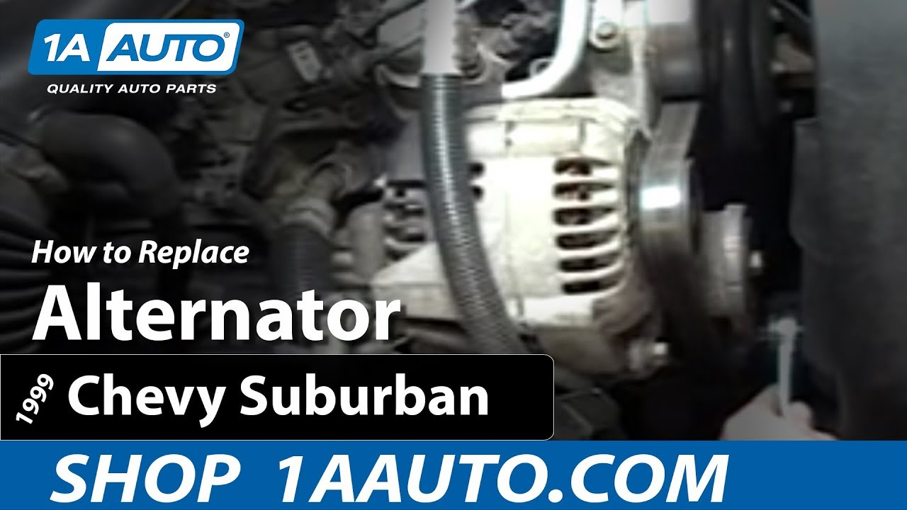 How To Install Replace Alternator Chevy Silverado Pickup Truck 94 Diesel Wiring Diagram Suburban And Tahoe 1aautocom