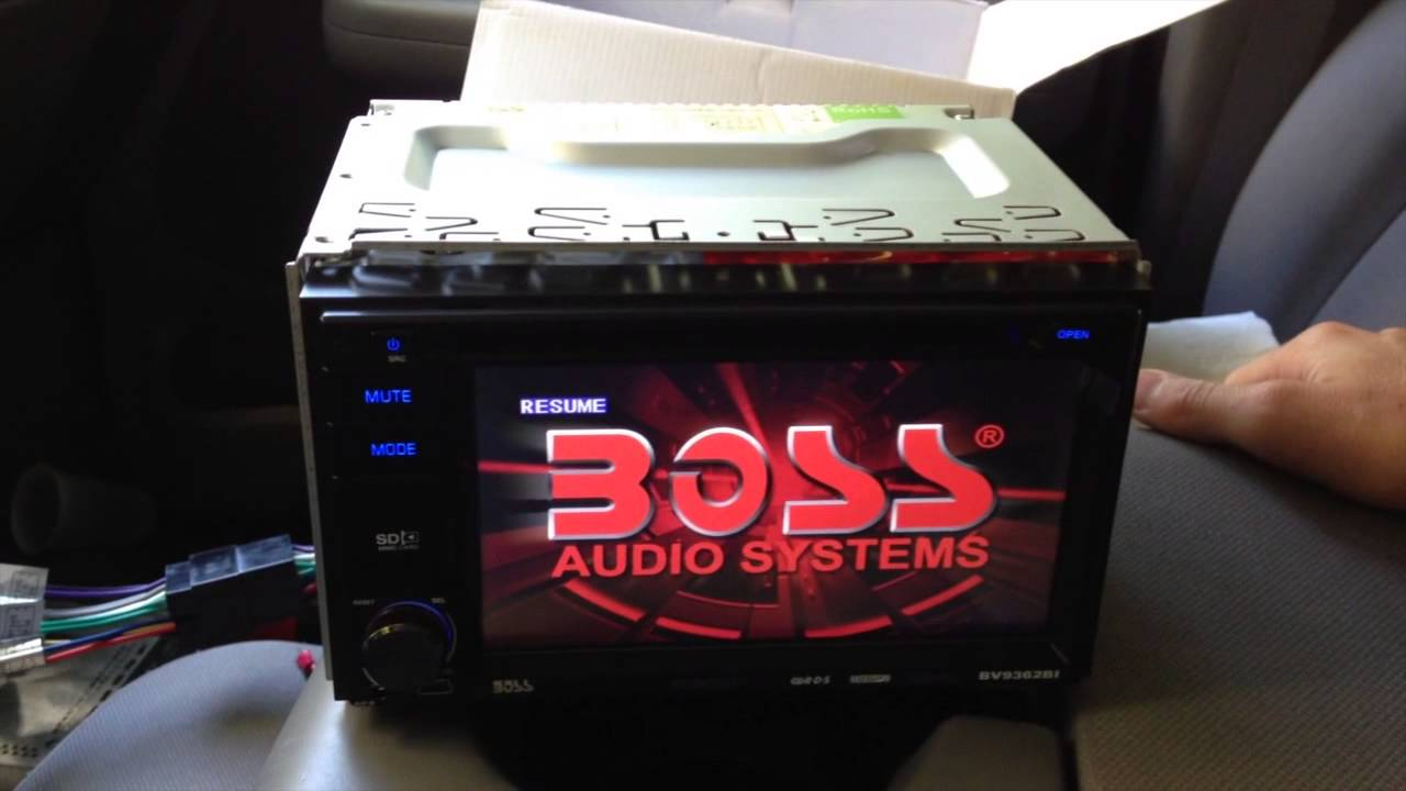 Boss Audio Installation and Tutorial  InDash Double Din BV9362BI  installation of backup