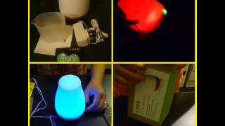 Unboxing CMYK COLORFUL ULTRASONIC HUMIDIFIER OIL DIFFUSER