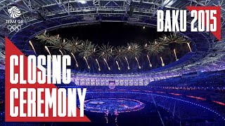 Baku 2015: Closing Ceremony