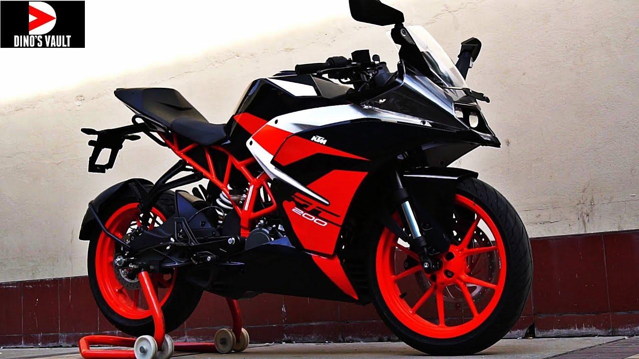 Ktm Rc 200 Black First Ride Review Walkaround Bikes Dinos Youtube