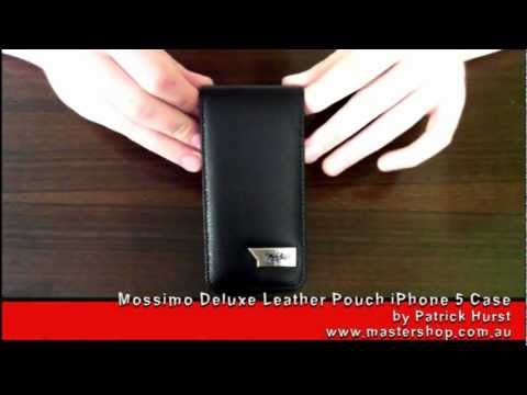 separation shoes fc9a1 27c3a Mossimo Deluxe Leather iPhone 5 Case Review - Black