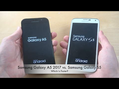 Samsung Galaxy A5 2017 vs. Samsung Galaxy S5 - Which Is Faster?!