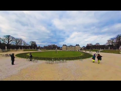 360 VR Tour | Paris | Luxembourg Palace and Gardens | Medici Fountain | VR Walk | No comments tour
