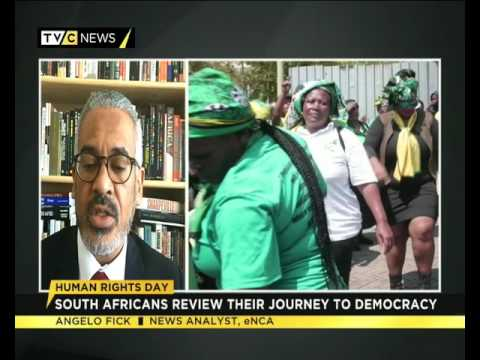 Angelo Fick speaks on Human Rights Day in  South Africa