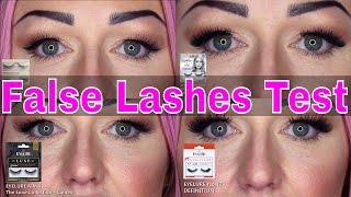 False Eyelash Test - Natural Lashes - Winged Lashes - Full Lashes - Super Insane Lashes