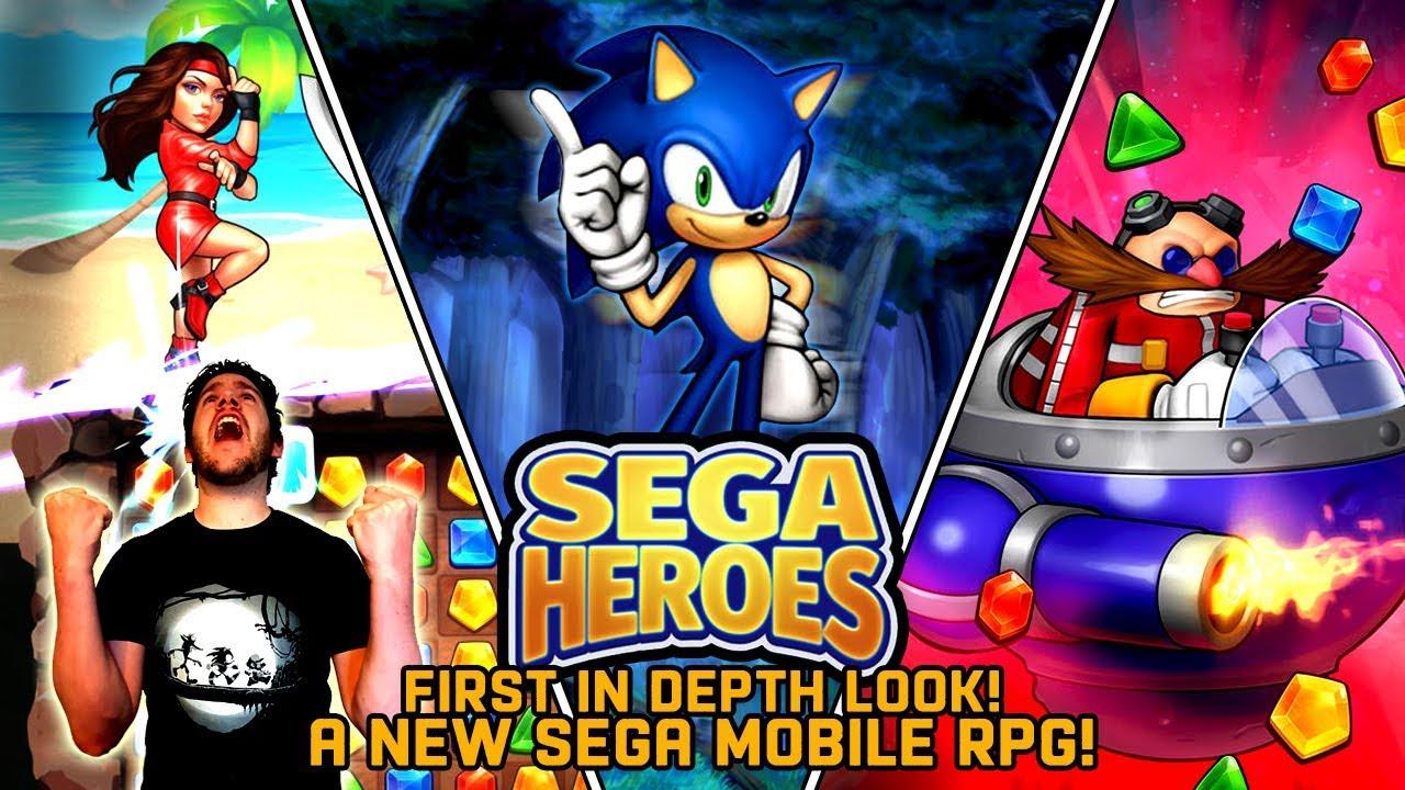 SEGA Heroes | NEW SEGA Mobile RPG! | FIRST In Depth Look! (iOS & Android  Gameplay)