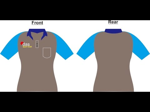 Design Coreldraw Membuat Kaos Lengan Pendek Kerah Short Sleeve