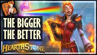 HUGE PALADIN! The Bigger, The Better - Rise of Shadows Hearthstone