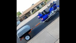 Motorcycle cargo trailer (Harbor Freight) build