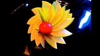 Как красиво нарезать яблоки - Украшения из фруктов & Карвинг яблок