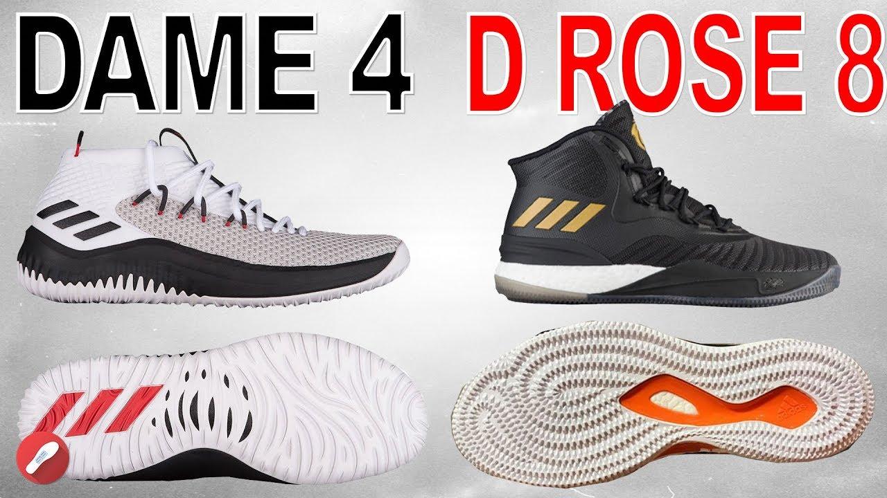Adidas D Rose 8 Boost Basketball Shoes Derrick Black Gold White CQ1618