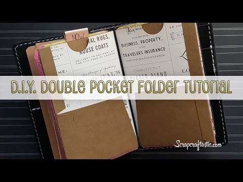DIY Double Pocket Folder for Pocket Size Midori/Fauxdori Style Traveler's Notebook