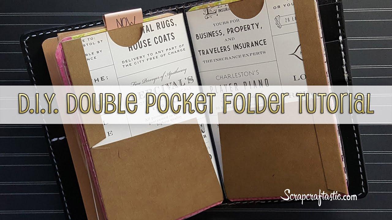 Diy Double Pocket Folder For Pocket Size Midorifauxdori Style