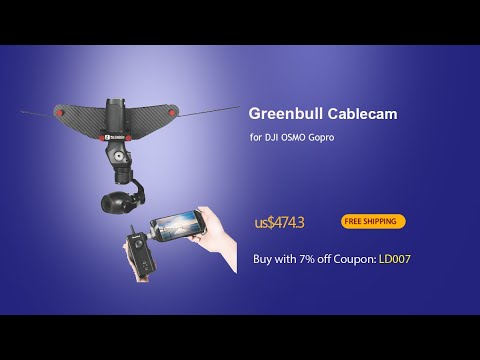 Greenbull Mini Cablecam Dolly Little Flycat for DJI OSMO Gopro and Small Gimbal --Linkdelight.com #1