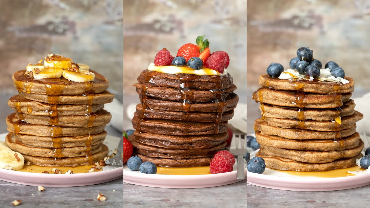 como hacer unos pancakes saludables