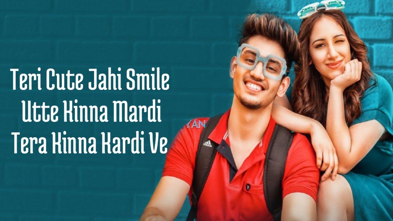 CUTE SONG (Lyrics) Aroob Khan ft. Satvik   Rajat Nagpal   Vicky Sandhu   Latest Punjabi Songs 2020