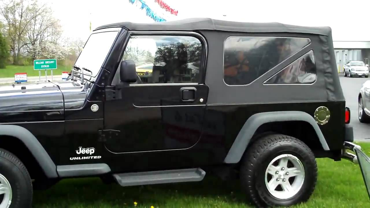 2006 jeep wrangler unlimited soft top