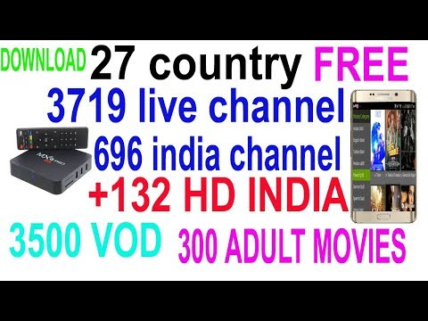 Free IPTV APK 27 country 3719 live channel 696 indian channel 132 full HD 3000 vod channel