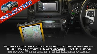 Land Cruiser 200: Dash pull apart + Ultragauge, UHF, iPad navigation(A step-by-step guide to pulling apart the centre dash of a Toyota Landcruiser 200, plus installation of an ultragauge, GME TX3800 UHF radio and iPad/Mudmaps ..., 2013-12-10T12:39:24.000Z)