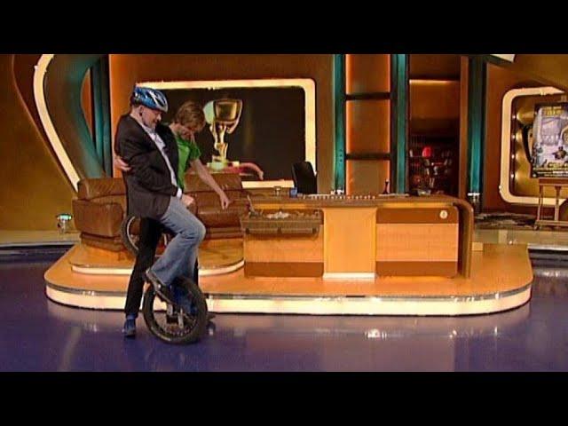 Stefan auf dem Einrad - TV total