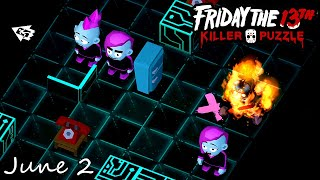 Friday the 13th Killer Puzzle Daily Death June 2 2020 Walkthrough