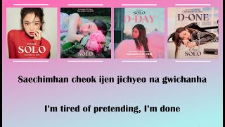 Jennie  Blackpink  - Solo Lyrics  Eng/rom
