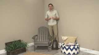 Coral Coast Faux Wood Adirondack Chair - Gray - Product Review Video