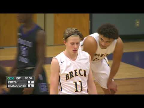 Breck vs. Brooklyn Center Boys High School Basketball