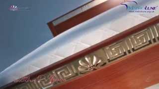 Двоспальне ліжко Афіна (масив бук)(Поєднання міцного буку та легкості ліній із тяжкістю металевої вставки, пофарбованої у золотий колір підкр..., 2015-10-07T11:51:46.000Z)