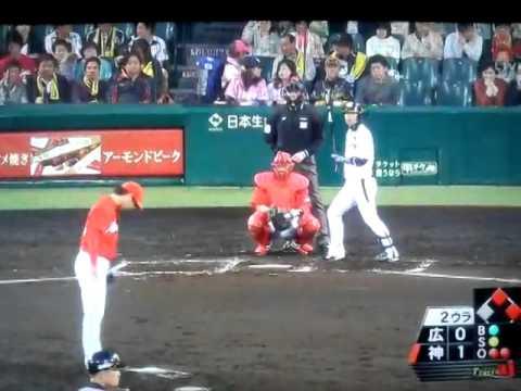 2014/04/30 阪神 マートン選手が日米通算1000本安打達成(o^^o)