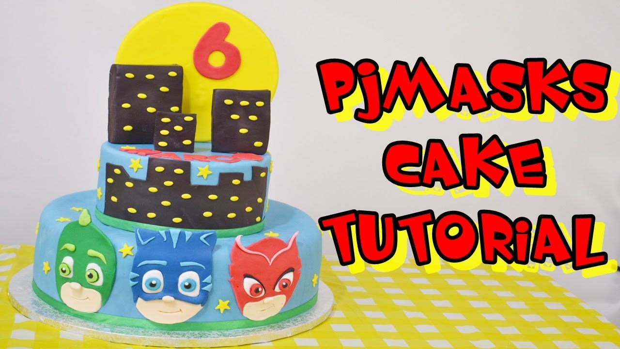 5ad0763db4 pjmasks cake tutorial fondant - torta super pigiamini in pasta di zucchero