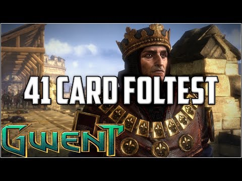 Gwent 41 Foltest Hubert Rejk ~ Witch Hunt ~ Gwent Deck Gameplay