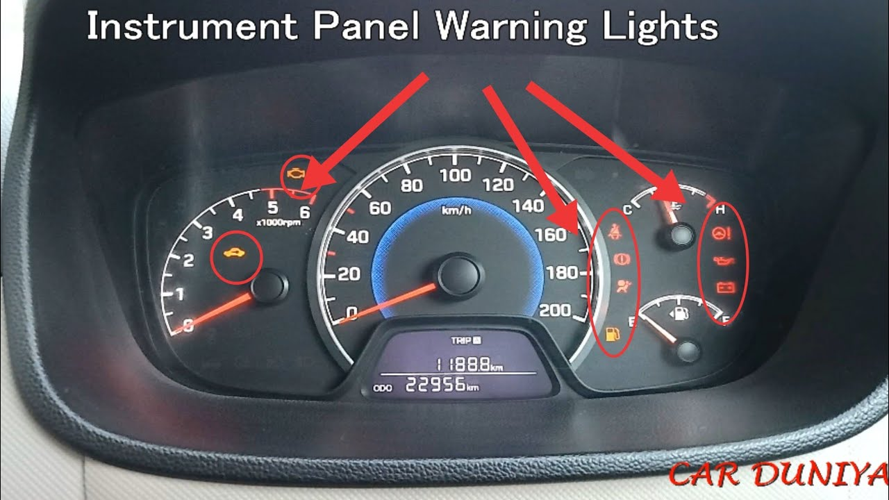 Warning Lights-car Instrument Panel