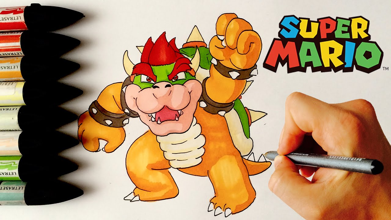BOWSER ✎ MARIO ✎ HOW TO DRAW - YouTube