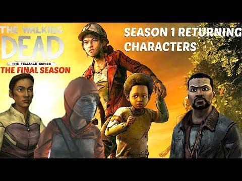 "The Walking Dead:Season 4: ""The Final Season"" Returning Characters -  Top 5 walking dead game s1"