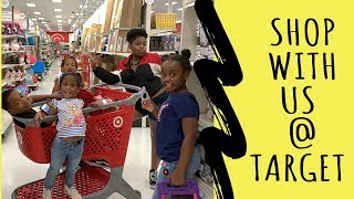TARGET SHOP WITH US // SHOPPING FOR VACATION // SHOP WITH ME // KIDS WITH MONEY