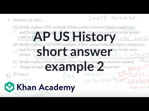 AP US History Short Answer Example 2 | US History | Khan Academy