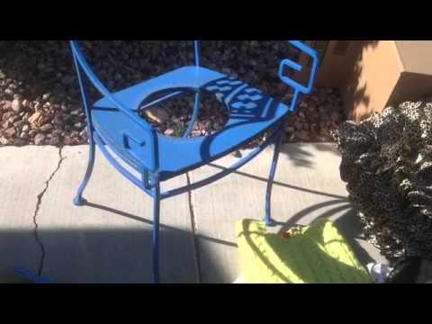 Outdoor Folk DIY idea metal chair flower pot holder