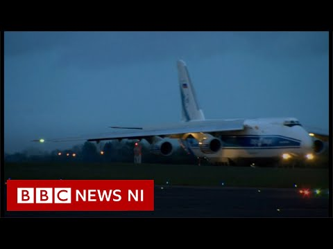 Huge plane delivers oxygen generators from Northern Ireland to India