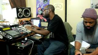 Kev Brown & J Scienide recording High Voltage (Produced by Kev Brown)