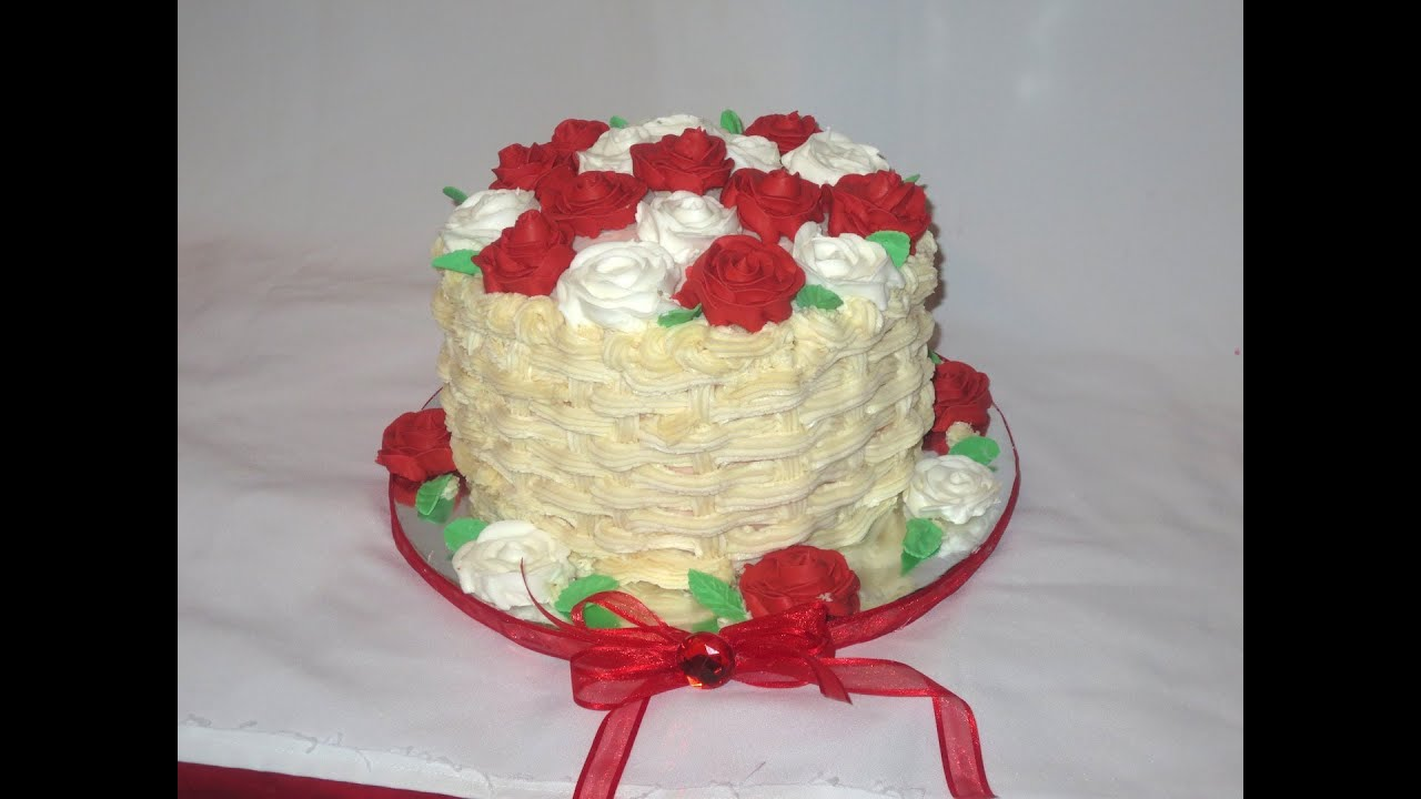 How To Do Basket Weaving On A Cake