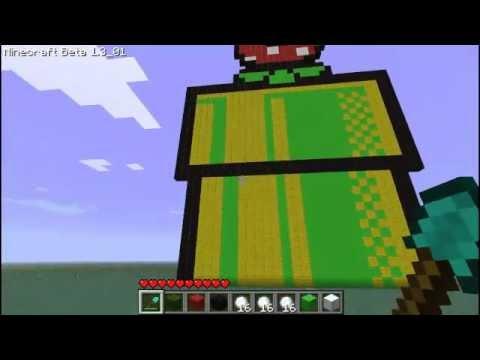 Minecraft Creations Super Mario Bros Piranha Plant Part 2 2 2