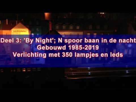 N Spoor Baan In De Nacht, N Spur Bahn In Die Nacht, N Layout Bij Night.