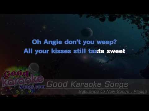 Angie -  The Rolling Stones (Lyrics Karaoke) [ goodkaraokesongs.com ]